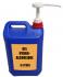 Bidon de 5 litres de gel hydroalcoolique avec pompe et bouton poussoir